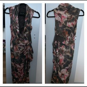 All Saints Tropic Silk Floral Dress